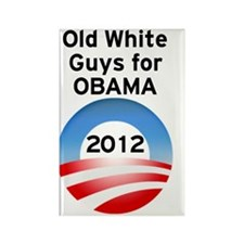 Old White Guys for Obama Rectangle Magnet
