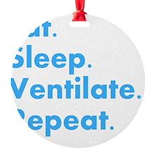 RT Eat sleep VENTILATE DARKS Round Ornament