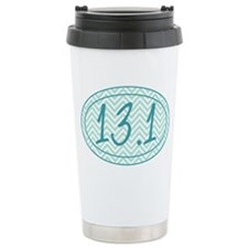 13.1 Blue Chevron Ceramic Travel Mug
