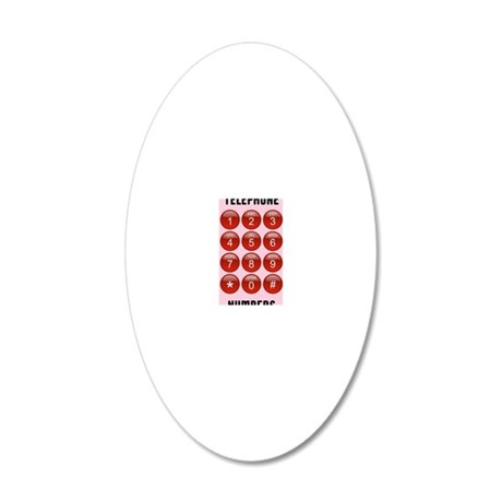 Telephone Numbers Address Bo 20x12 Oval Wall Decal