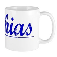 Mathias, Blue, Aged Mug