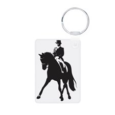 Half pass silhouette Aluminum Photo Keychain