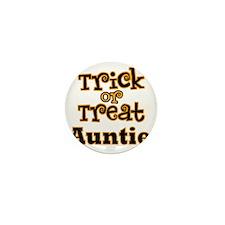 Trick or Treat Auntie Mini Button