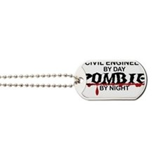 Civil Engineer Zombie Dog Tags