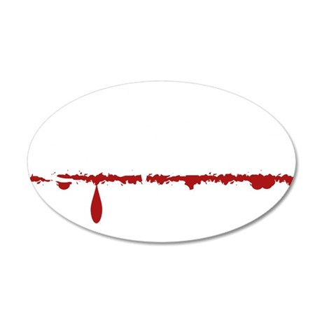 Computer Engineer Zombie 35x21 Oval Wall Decal