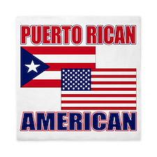 Puerto Rican AMERICAN pride Queen Duvet