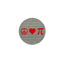 Peace, Love, and Pi Mini Pin