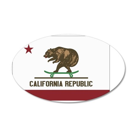 California Skateboarding Bea 35x21 Oval Wall Decal