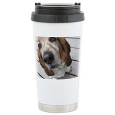 Basset Love Ceramic Travel Mug