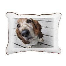 Basset Love Rectangular Canvas Pillow