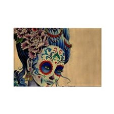 Marie Muertos laptop skin Rectangle Magnet