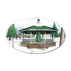 Christmas at Washington Park 35x21 Oval Wall Decal
