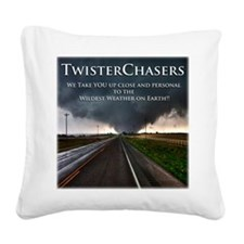 TwisterChasers Back Square Canvas Pillow