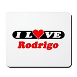 I Love Rodrigo Mousepad