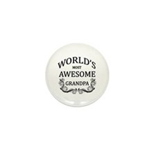 World's Most Awesome Grandpa Mini Button (10 pack)
