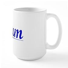 Plum, Blue, Aged Mug