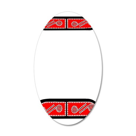 CHAHTA 35x21 Oval Wall Decal