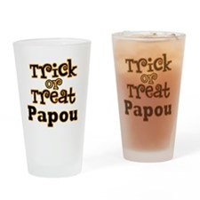 Trick or Treat Papou Drinking Glass