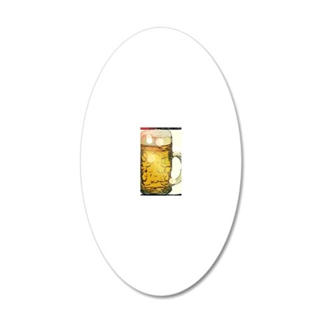 Beer lights 20x12 Oval Wall Decal