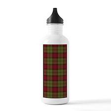 Red Green Tartan Water Bottle