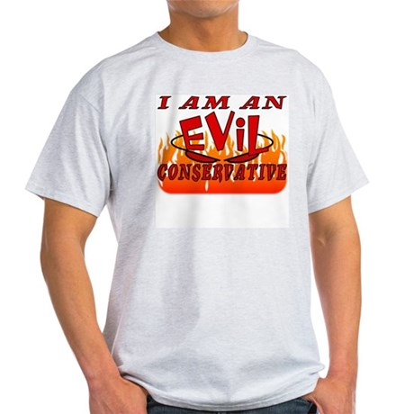 EVIL Conservative Ash Grey T-Shirt