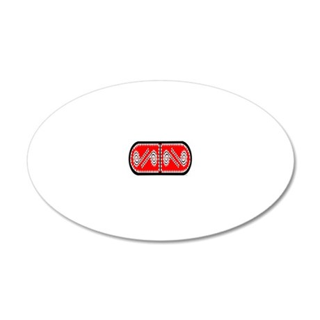 CHAHTA 20x12 Oval Wall Decal