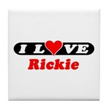 I Love Rickie Tile Coaster