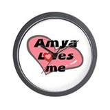 amya loves me  Wall Clock