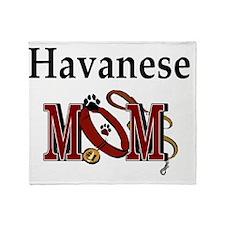 Havanese Mom Throw Blanket