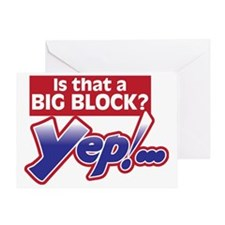 Is that a Big Block? Greeting Card