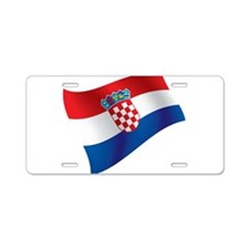 Croatian Flag Aluminum License Plate