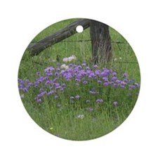 Texas Wilflowers Round Ornament