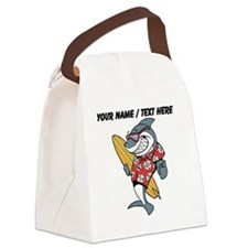 Custom Shark Surfer Canvas Lunch Bag