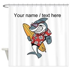 Custom Shark Surfer Shower Curtain