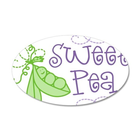 Sweet Pea 35x21 Oval Wall Decal