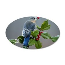 Bluebird and Holly Wall Decal