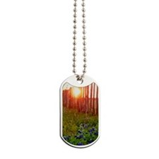 painted bluebonnet sunset 5x7 Dog Tags