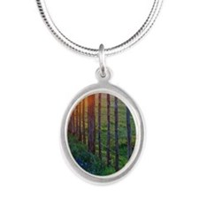 bb sun set 5x7 Silver Oval Necklace