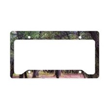 into the woods License Plate Holder