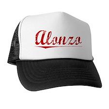 Alonzo, Vintage Red Trucker Hat