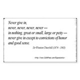 (Never - Churchill - A) Sticker (Rect.)