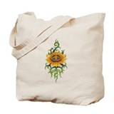 Tribal Peace Sun Flower Tote Bag