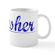 Thrasher, Blue, Aged Mug