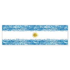 Textual Argentina Bumper Bumper Sticker