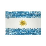 Textual Argentina Rectangle Magnet (10 pack)