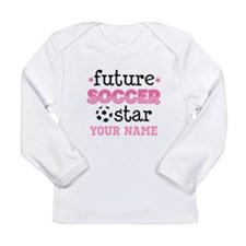 Future Soccer Star Girls Long Sleeve T-Shirt