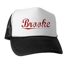 Brooke, Vintage Red Trucker Hat