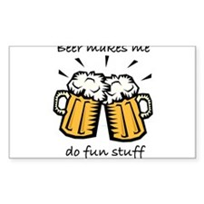 beer fun stuff Decal