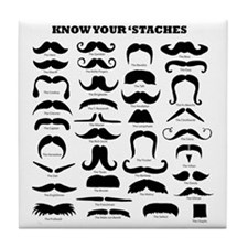 Know Your Staches Tile Coaster