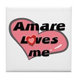 amare loves me  Tile Coaster